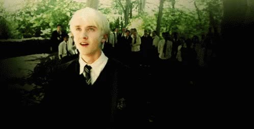 Watch and share Draco Malfoy Hogwarts GIFs on Gfycat