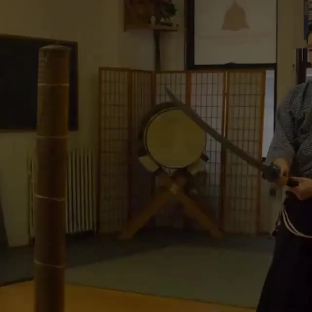 Watch Cut it like you mean it. 180 fps footage from class, by @peterjhaas @tzlongsword GIF on Gfycat. Discover more Dojo Instagram, battodo, byakkokan_nyc, iaido, katana, kenjutsu, shinken, swordsmanship, tameshigiri, techniques GIFs on Gfycat