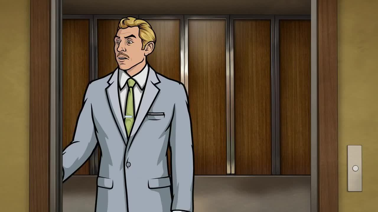 archerfx, • MRW someone I hate asks me to hold the elevator [xpost from r/reactiongifs] (reddit) GIFs