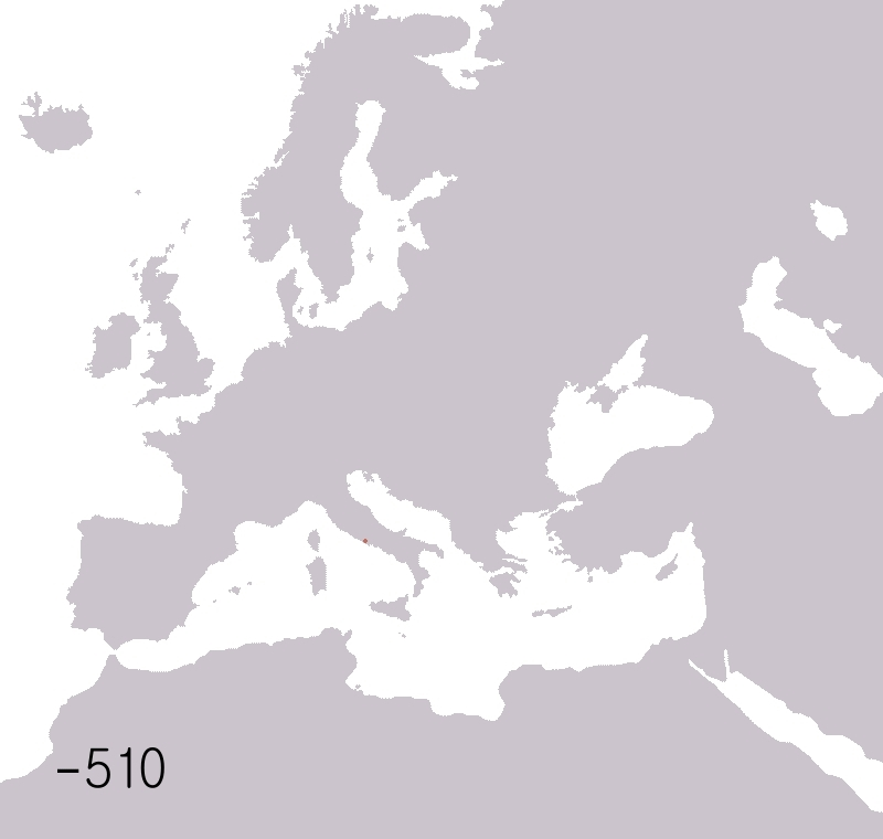 educationalgifs, The Rise and Fall of the Roman Empire from 510 BC to 530 AD. [Xpost from /r/GfycatDepot] (reddit) GIFs
