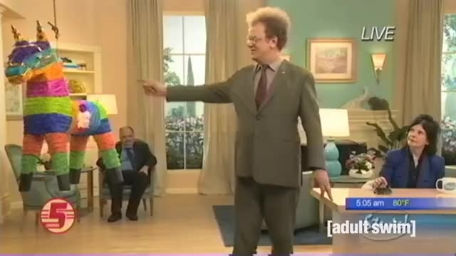 Watch Piñata Game | Check it Out! with Dr Steve Brule SEASON 4 PREVIEW | Adult Swim GIF on Gfycat. Discover more Cartoons, animation, cartoon, checkitout, comedy, drbrule, funny, johncreilly, johnreilly, parody, pinata, pinatagame, pinyaga, pinyanga, sketch, surreal, uk GIFs on Gfycat