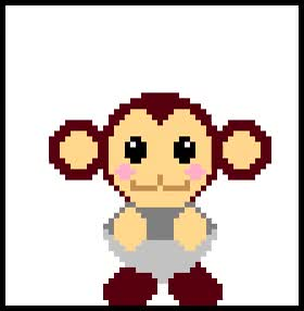 Watch and share GIF Monkey Data Dance In 8 Bit (Megaman Legend) By MBSotn GIFs on Gfycat