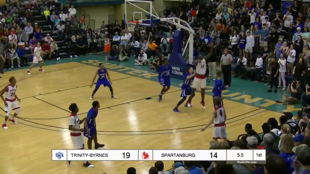 SUVtv, basketball, broadcasting, sports, streaming, Williamson bulls through 3-4 defenders GIFs