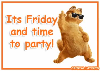 Watch and share Friday Party Garfield GIFs on Gfycat