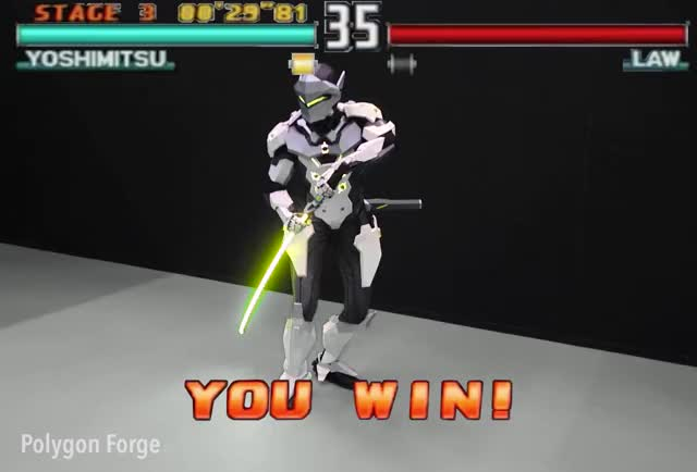 Watch SHIIIIIKI SOKU ZEKUUUUUUU!! GIF by @gamedevm on Gfycat. Discover more gaming, genji, overwatch, tekken, tekken 3, victory, yoshimitsu GIFs on Gfycat