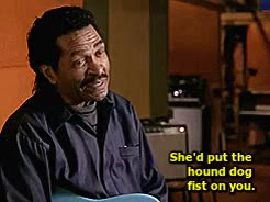 Watch Who was what girl? GIF on Gfycat. Discover more african american, black men, black women, bobby rush, gifset, hound dog, mama mae thornton, mike stoller, music, rock and roll, tough women, where are the stars like this today? GIFs on Gfycat