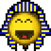 Watch and share Egypt Smilie Pharaoh LOL Funny Laugh Laughing Pharoah King Tut Egyptian Ancient Egypt Luxor Smilies Smiley Smileys Icon Icons Emoticon Emoti animated stickers on Gfycat