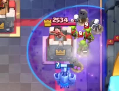 Watch and share Using Zap Vs Arena Tower GIFs by Clash World on Gfycat