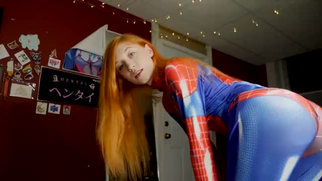 the Amazing Spider-gal Gets Face Fucked