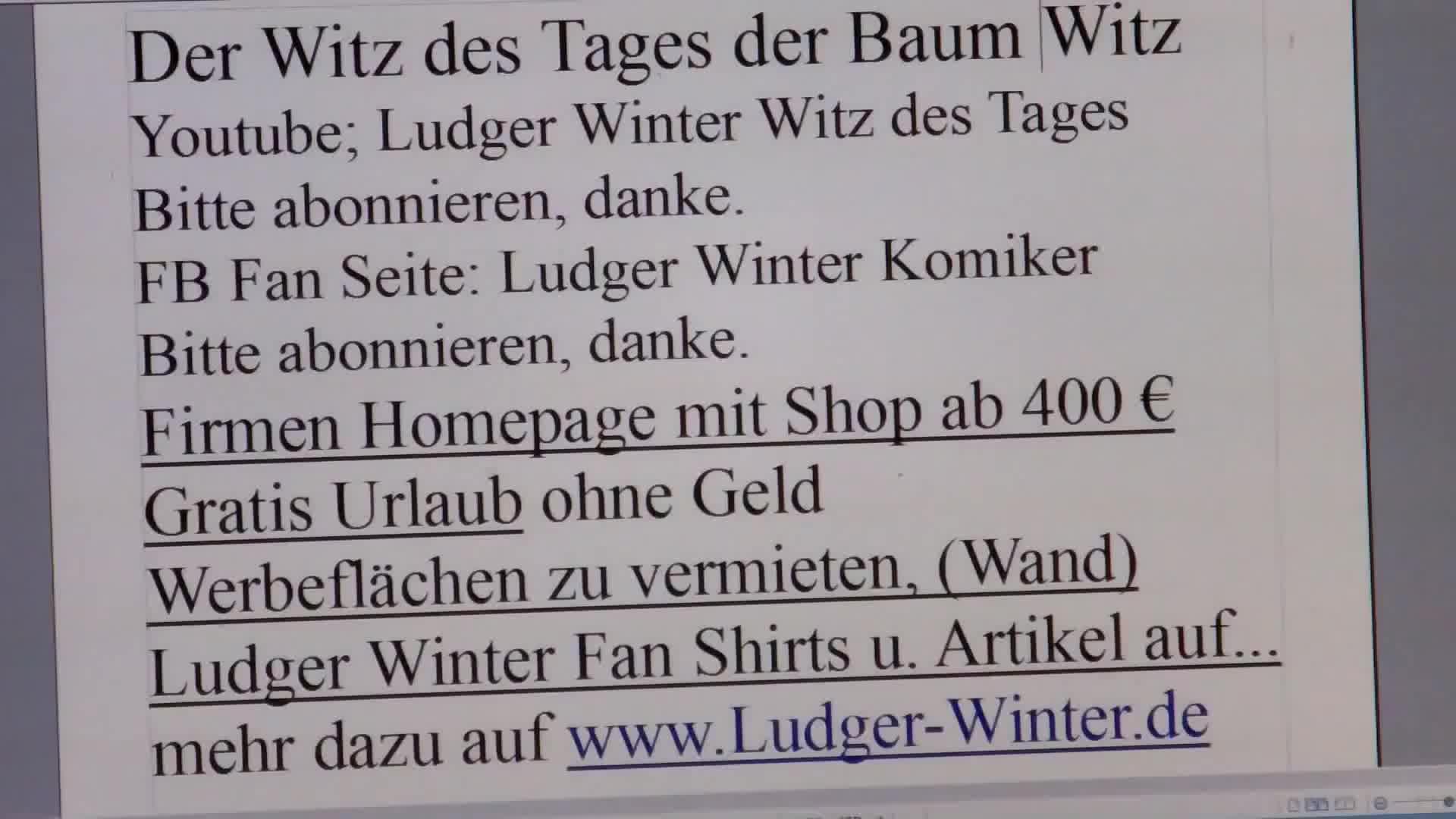 272 Ludger Winter Witz Des Tages Der Baum Witz Reddit Gif Find