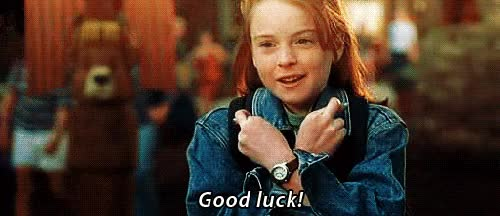 Watch this good luck GIF by Reaction GIFs (@sypher0115) on Gfycat. Discover more good luck, lindsay lohan GIFs on Gfycat