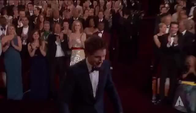 Watch and share Eddie Redmayne GIFs and Oscars GIFs on Gfycat