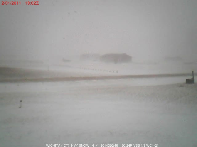 An Animated Image Showing A Time Lapse Of Blowing Snow From A Web Camera  Near Clearwater Kansas