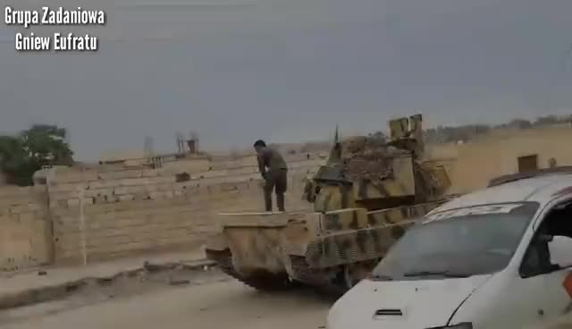 Watch and share Gniew Eufratu - Battle Of Tabqa - Syria Combat Footage 2017 GIFs on Gfycat