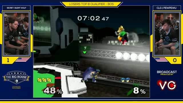 TBH6 SSBM - CLG | PewPewU (Marth) Vs. Silentwolf (Fox) - Smash Melee Losers Top 8 Qualifier