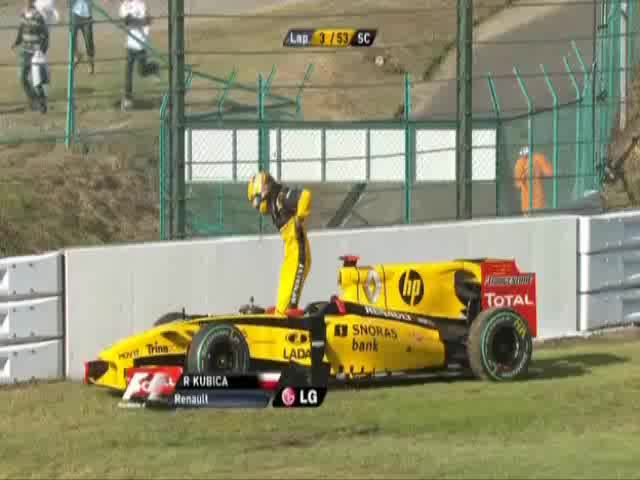 Watch Kubica-lost-wheel GIF on Gfycat. Discover more related GIFs on Gfycat