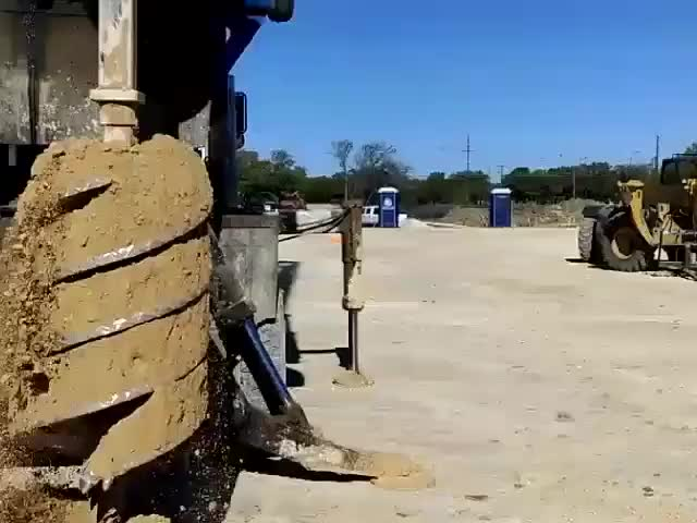Watch and share Spinning The Dirt Off A Drill Rig. (reddit) GIFs on Gfycat