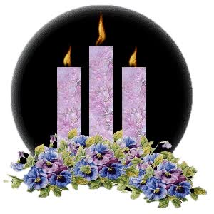 Watch and share Candles Images Pansies And Purple Candles Wallpaper And Background Photos animated stickers on Gfycat