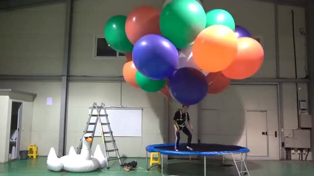 Watch and share Flying With Helium Balloons !!! I Became A Superman !!! GIFs on Gfycat