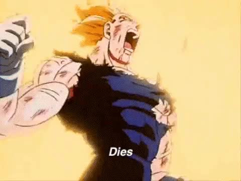 Watch and share Vegeta Dies GIFs on Gfycat