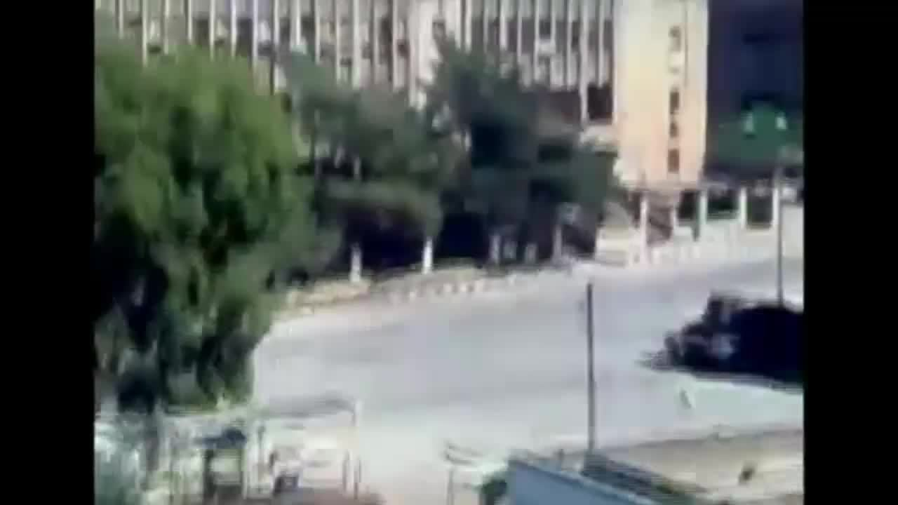 ThingsThatBlowUp, destroyedtanks, militarygfys, Unidentified Syrian tank blown up by an internal explosion after an RPG hit early during the uprising (reddit) GIFs