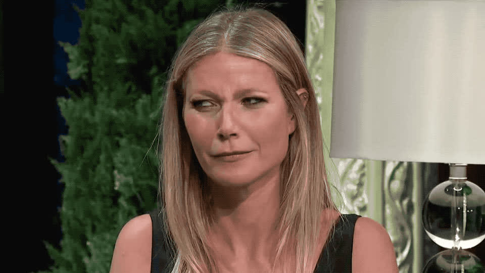 angry, bad, colbert, confused, disgust, ew, gwyneth, gwyneth paltrow, mad, no, off, paltrow, pissed, really, roll, smell, stephen, wait, way, what, Gwyneth Paltrow is confused GIFs