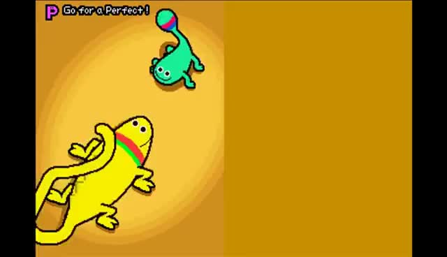Watch Rhythm Heaven (Perfect): Love Lizards GIF on Gfycat. Discover more related GIFs on Gfycat