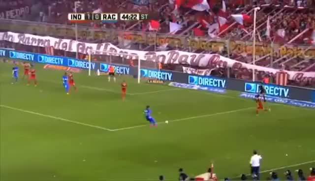 Watch and share Gol De Lisandro López  Independiente 1   Racing 1  Fecha 4  Primera División 2016 GIFs on Gfycat