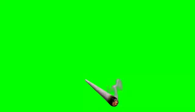 Watch and share Smoking Joint (Green Screen) GIFs on Gfycat