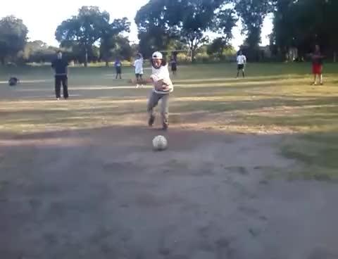 Watch and share Borracho Jugando Al Fútbol GIFs on Gfycat