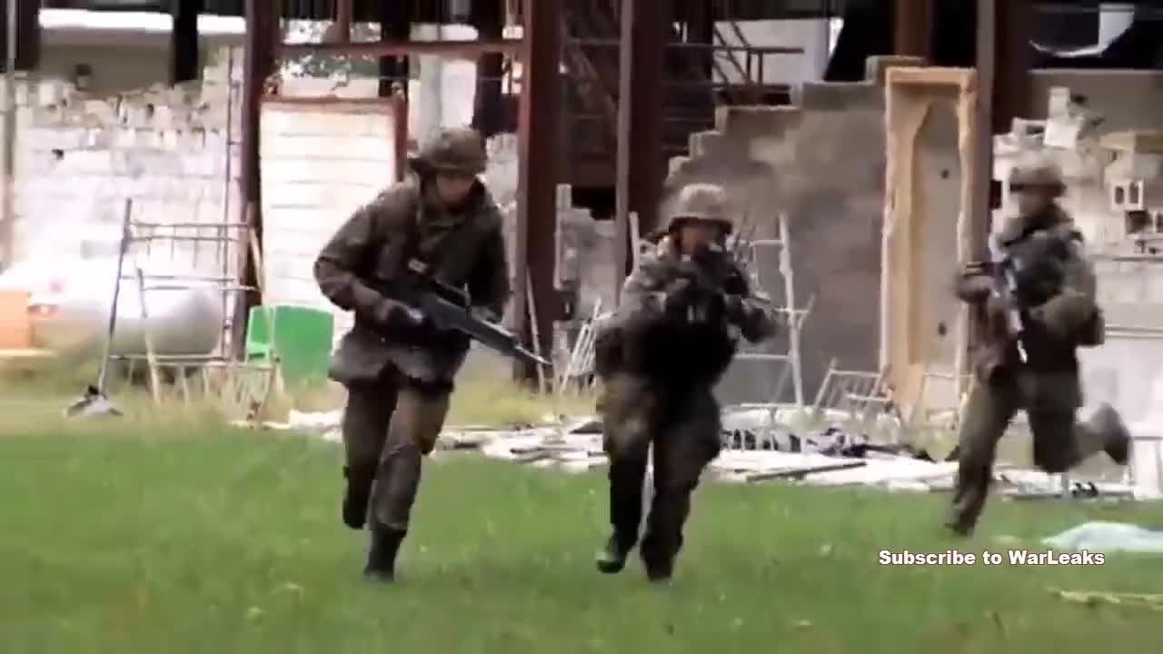 All Tags, bundeswehr, daily, defense, g36, germany, merkel, military, German Soldiers Simulate Charge On Enemy Held Position During Urban Military Training Exercise GIFs