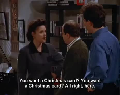 Watch this george costanza GIF on Gfycat. Discover more Christmas Card, Elaine Benes, George Costanza, Jason Alexander, Jerry Seinfeld, Julia Louis- Dreyfus, Nip, Seinfeld, christmas card, elaine benes, george costanza, jason alexander, jerry seinfeld, julia louis- dreyfus, julia louis-dreyfus, nip, seinfeld GIFs on Gfycat