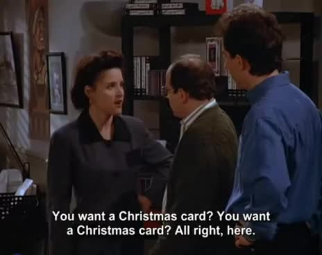 Seinfeld Christmas Card Nip Gif Find Make Share Gfycat Gifs