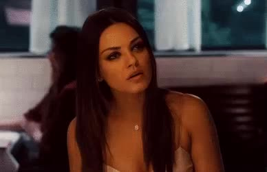 confused, hmm, huh, ok, question, question mark, questioning, thinking, thinking face, what, Mila Kunis nod GIFs
