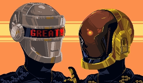 8bits, animated, artists on tumblr, daft punk, eletronica, fanart, gif, music, my art, pixel art, pixel artists, wow, yey, daft pank GIFs