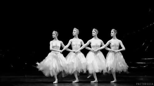 Watch and share {  } +ballet +ballerina +bailarina +ballerinas +dance +cygnets +swan Lake +black And White +ballet Gif +bethany Keatin GIFs on Gfycat