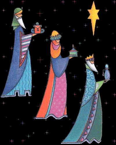 Watch and share Tres-reyes-magos-estrellas-animados-navidad-gif GIFs on Gfycat