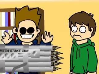Watch MEGA STAKE MACHINE GUN GIF on Gfycat. Discover more blood, edd, eddsworld, killer, matt, mega stake machine gun, sucks, vampire GIFs on Gfycat