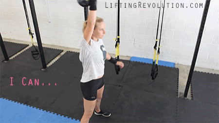 fitness inspiration, kettlebells, kettlebells for women, I Can And I Will. I like to tell myself this everyday! GIFs