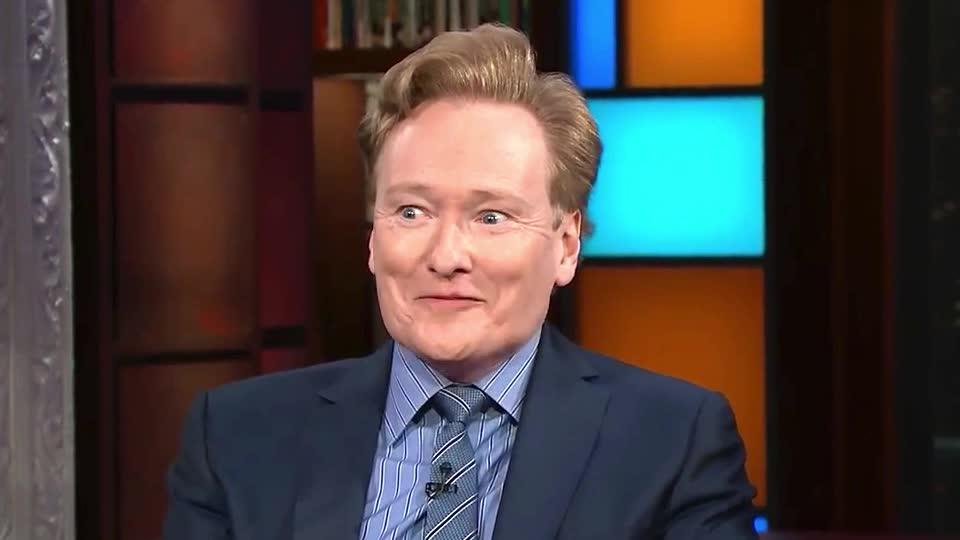 Conan O'Brien, brien, conan, excited, eye, eyeroll, happy, hell, no, o, roll, smile, way, yeah, yes, Conan O'Brien eye roll GIFs