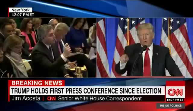 """Watch and share Donald Trump Shuts Down CNN Reporter: """"You're Fake News"""" GIFs on Gfycat"""