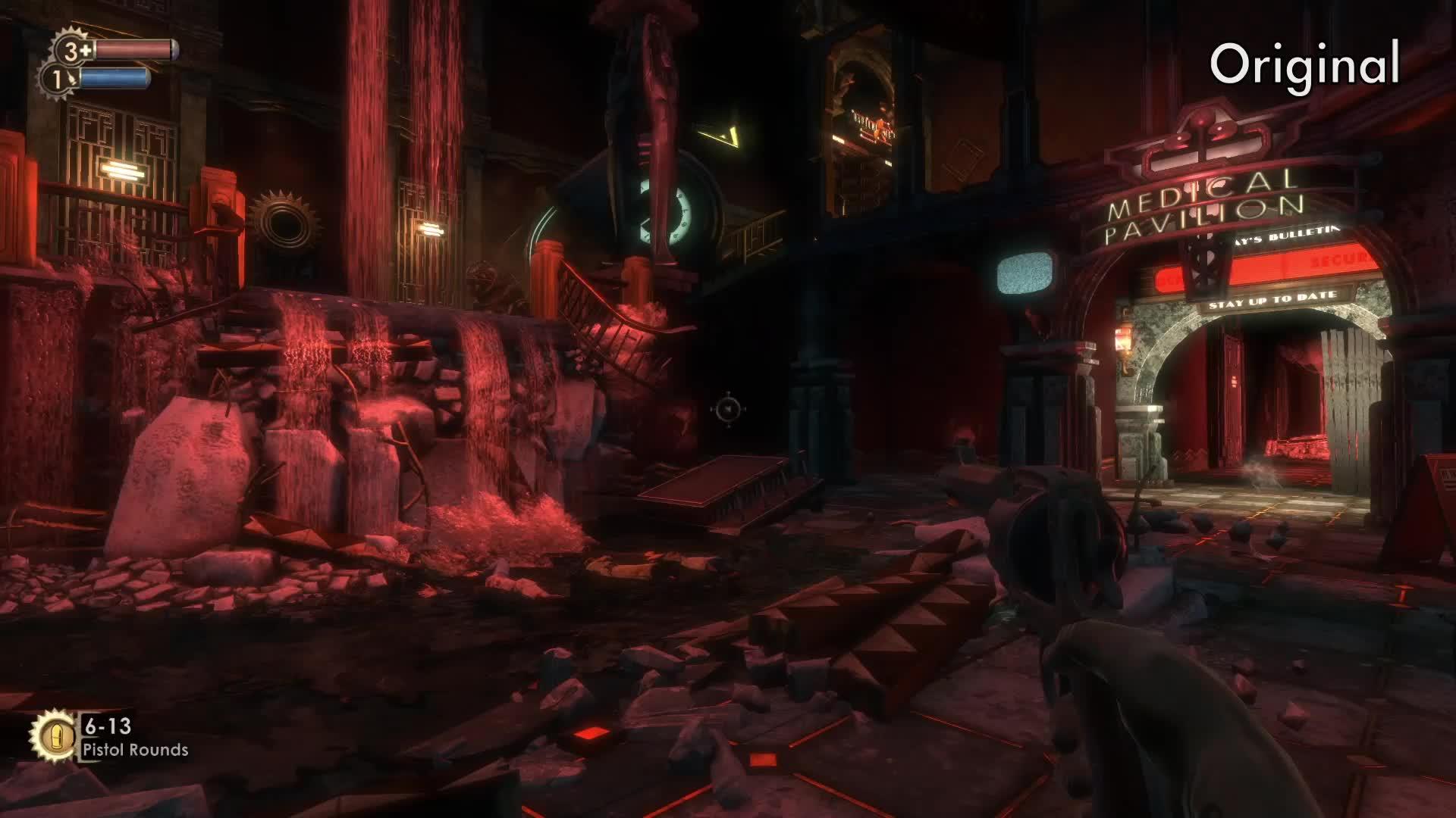 gamedeals, pcgaming, Bioshock Remastered Comparison #2 GIFs
