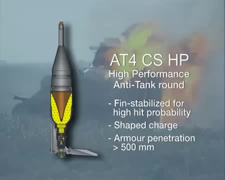 Watch and share The Shaped Charge From An AT4 CS Punches Straight Through The Side Of A Pansarbandvagn 301 Target [gfy] (reddit) GIFs on Gfycat