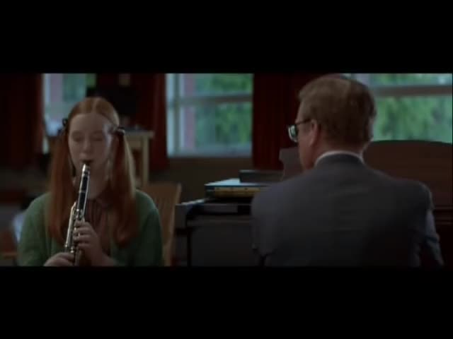 Watch Clarinet Scene - Mr. Holland's Opus GIF by Randomgifs (@domdare) on Gfycat. Discover more 1995, Alicia, Dreyfuss, Holland's, James, Mr., Opus, Richard, Witt, clarinet GIFs on Gfycat