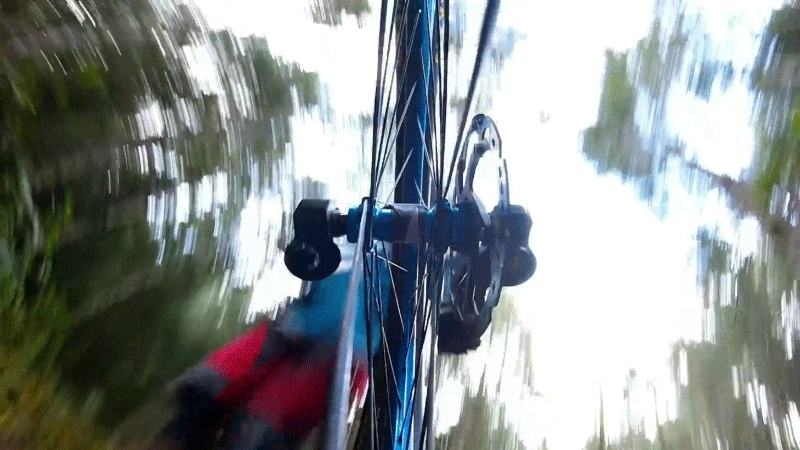 perfectloops, GoPro's new camera fits in the spokes of a bicycle wheel. [OC] (reddit) GIFs