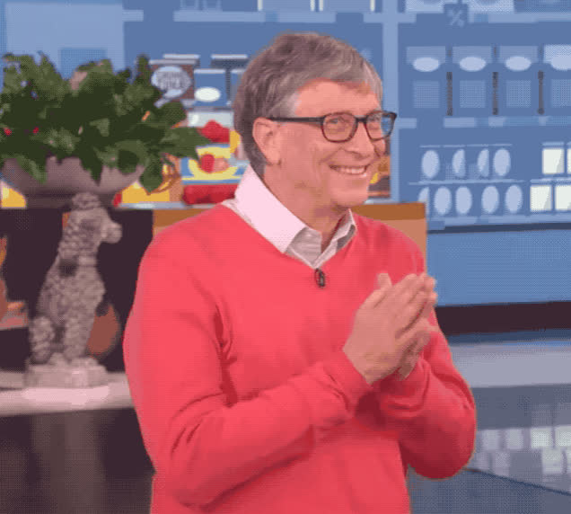 a, applause, bad, bill, bravo, clap, clapping, did, ellen, excited, foxy, gates, good, grocery, happy, kinky, oops, show, think, tricky, Bill Gates - Clapping GIFs