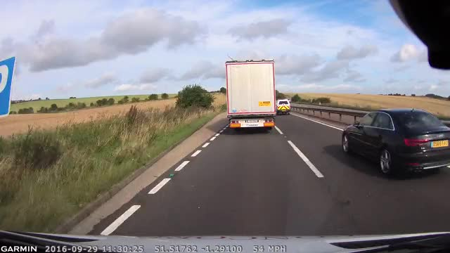 Watch and share Close Call With Broken Piece Of Door Falling From Truck No Damage No Carnage Just Luck GIFs by Beef on Gfycat