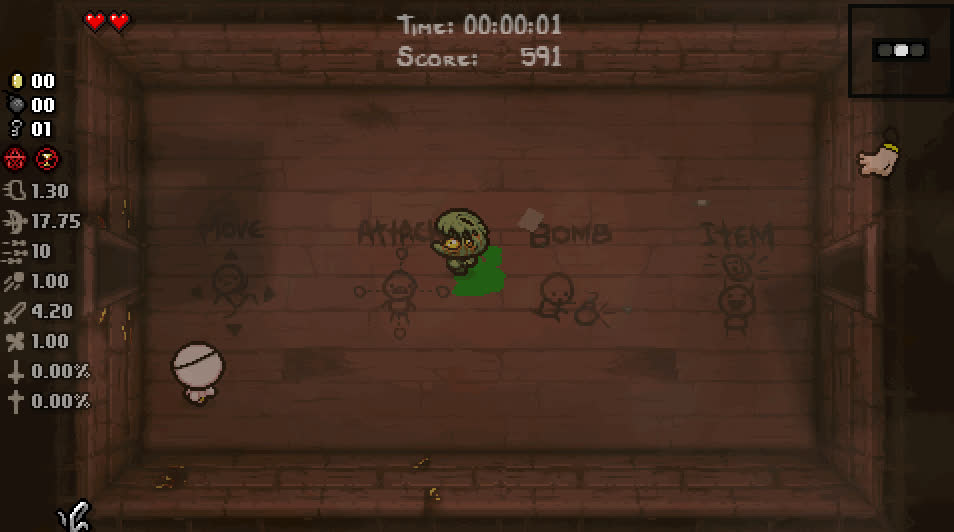 bindingofisaac, Some kind of slimy bouncy guy with a funny face (reddit) GIFs
