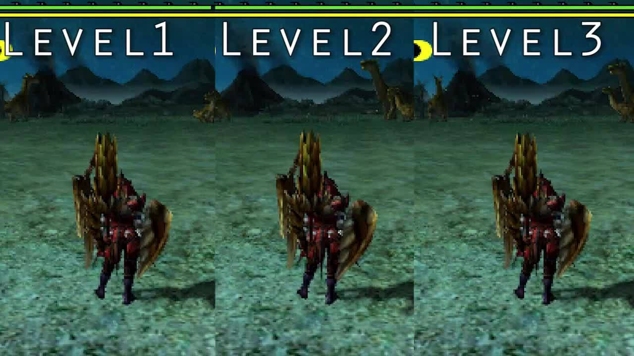 monsterhunter, This is what the 3 levels look like if you mash X after activating (reddit) GIFs