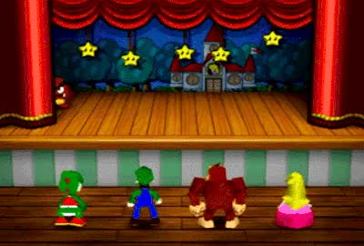 Watch and share Contemplating A Curtain Call In Mario Party 3, By Hudson/Nintendo. GIFs on Gfycat